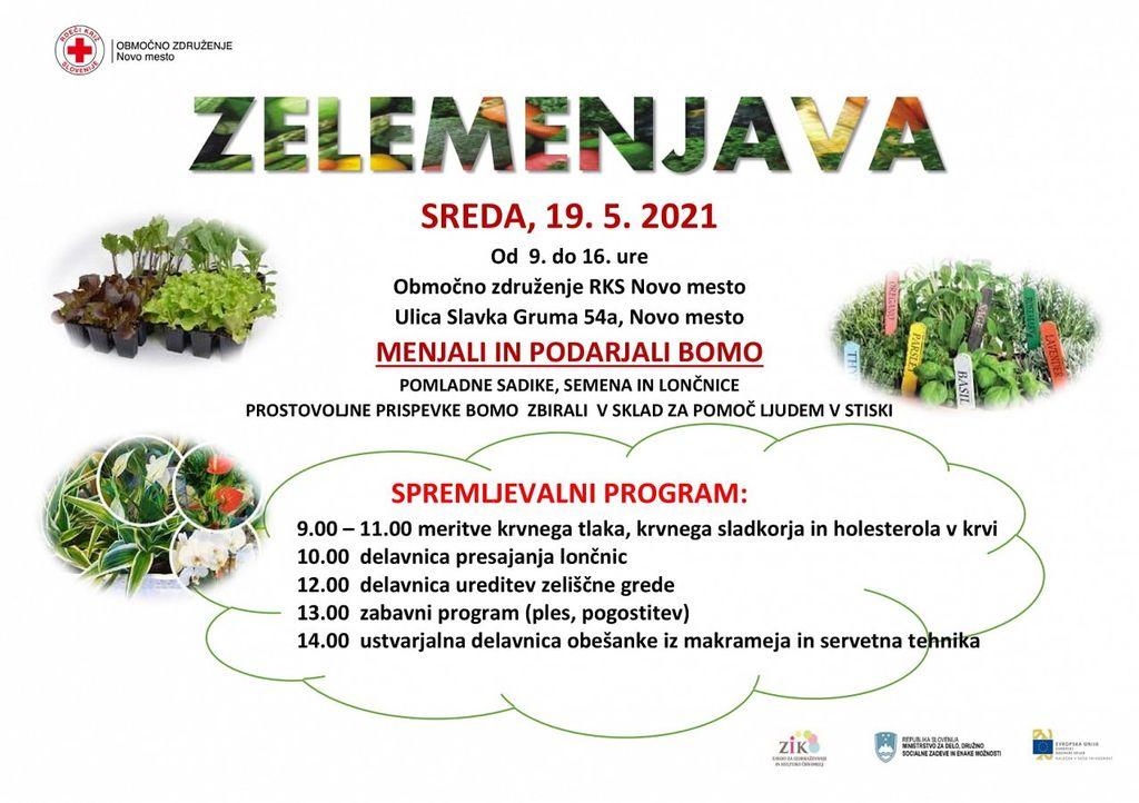 Rdeči križ Novo mesto organizira izmenjevalnico sadik