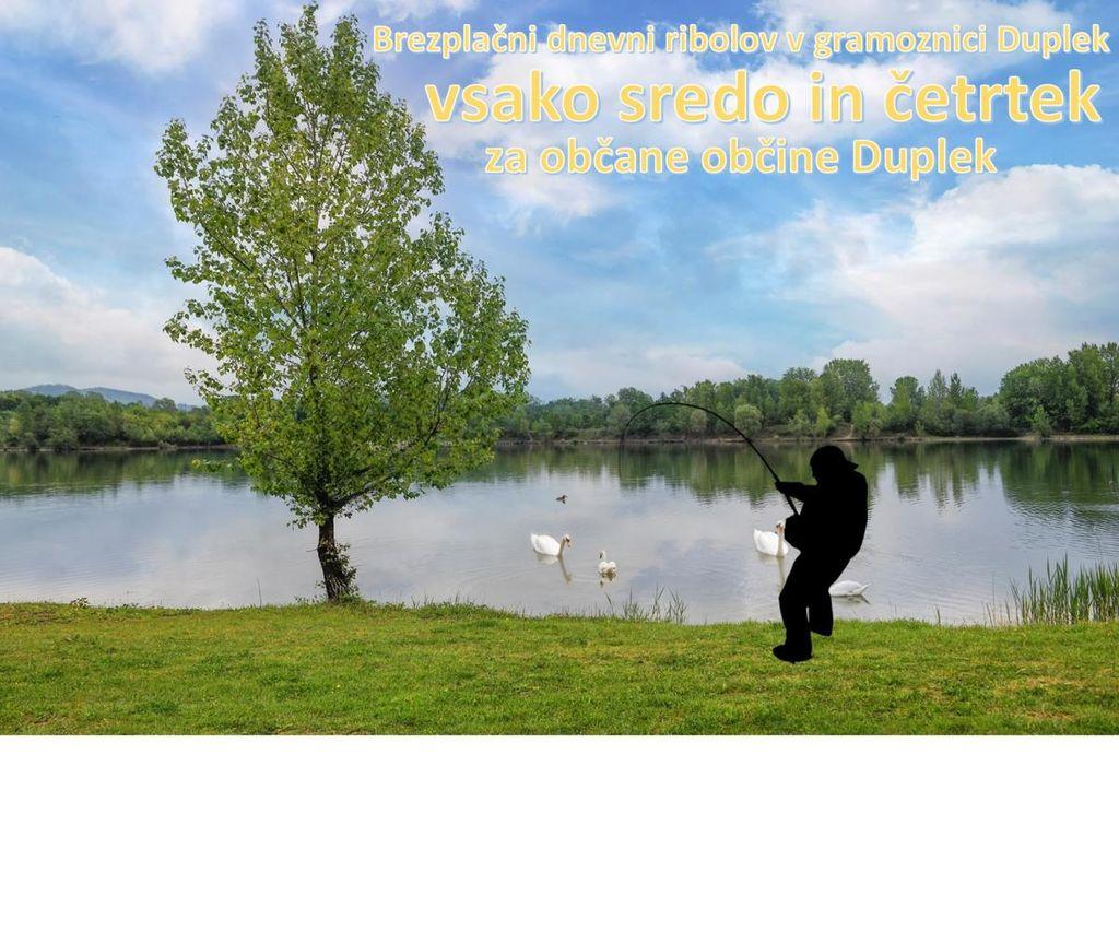 Brezplačne ribiške karte za ribolov v gramoznici Duplek
