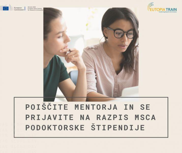 Mentorstvo in prijava na MSCA podoktorske štipendije