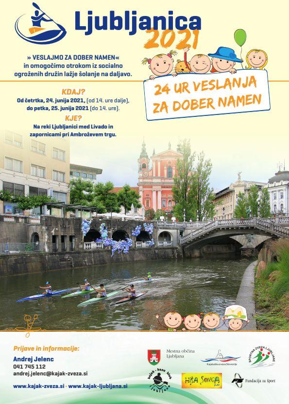 24 ur veslanja po Ljubljanici za dober namen