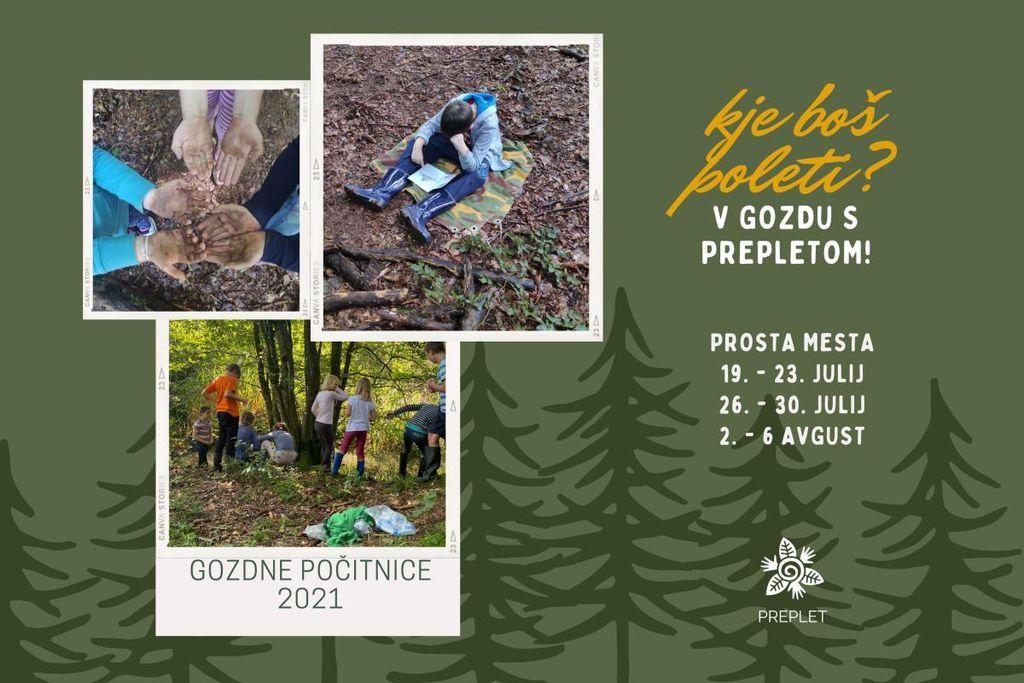 Gozdne počitnice s Prepletom 2021