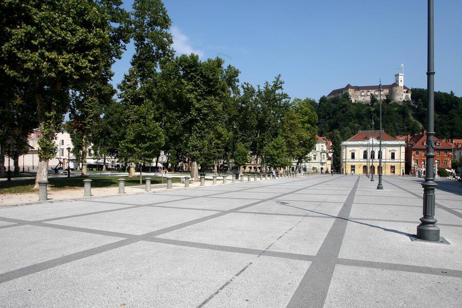 Na Unescov seznam je uvrščen tudi Kongresni trg s parkom Zvezda. Foto: N. Rovan