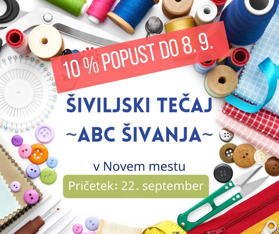 Šiviljski tečaj - ABC ŠIVANJA