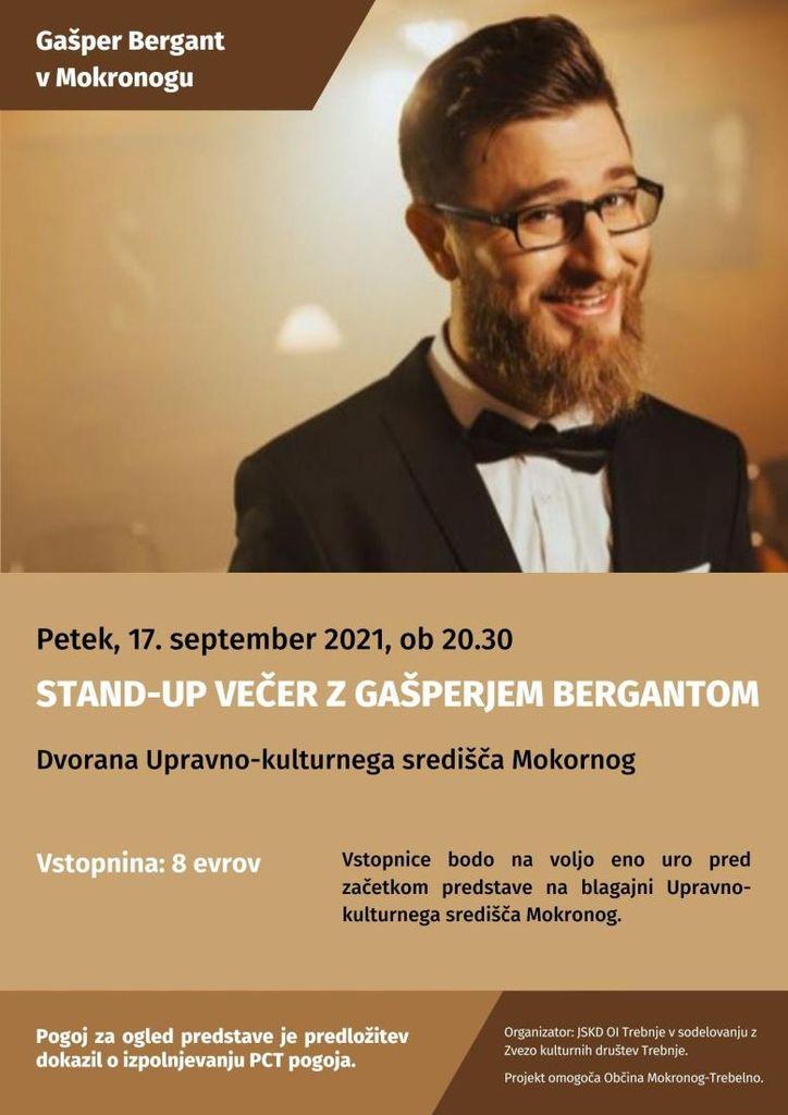 Stand-up večer z Gašperjem Bergantom