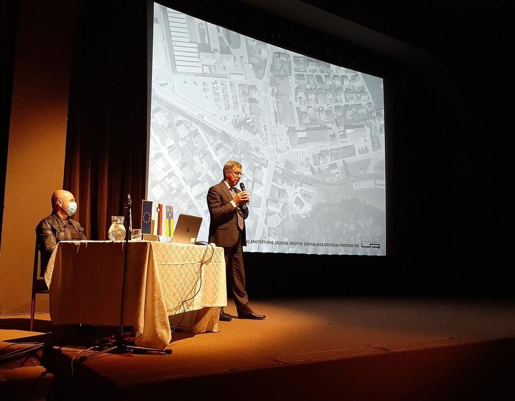 Predstavitev idejne zasnove ureditve centra Žirov