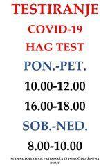 TESTIRANJE COVID-19 S HAG TESTI TUDI NA MUTI