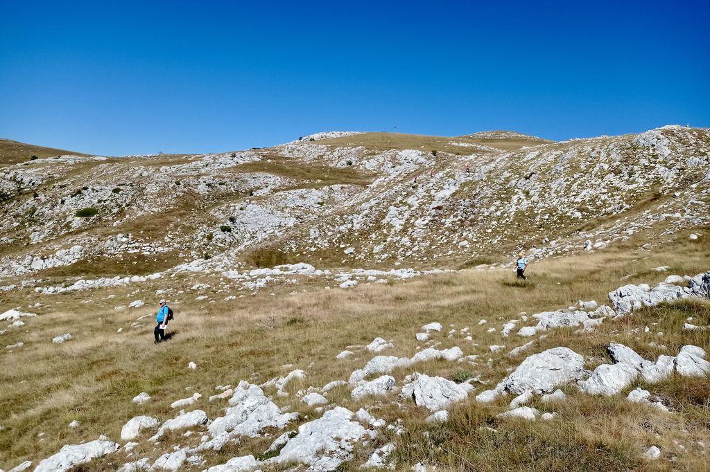 Orientacijsko zahteven teren na planini Vučje nad Nikšićem, prihodnje leto pa bo balkansko prvenstvo v planinski orientaciji znova gostila Slovenija (foto Matej Trobec)