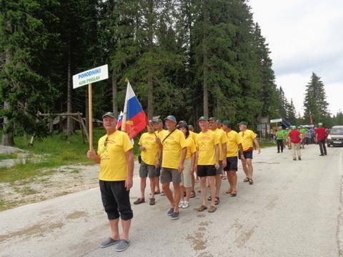 Skupina Kum - Triglav se zbira za proslavo na Rudnem polju