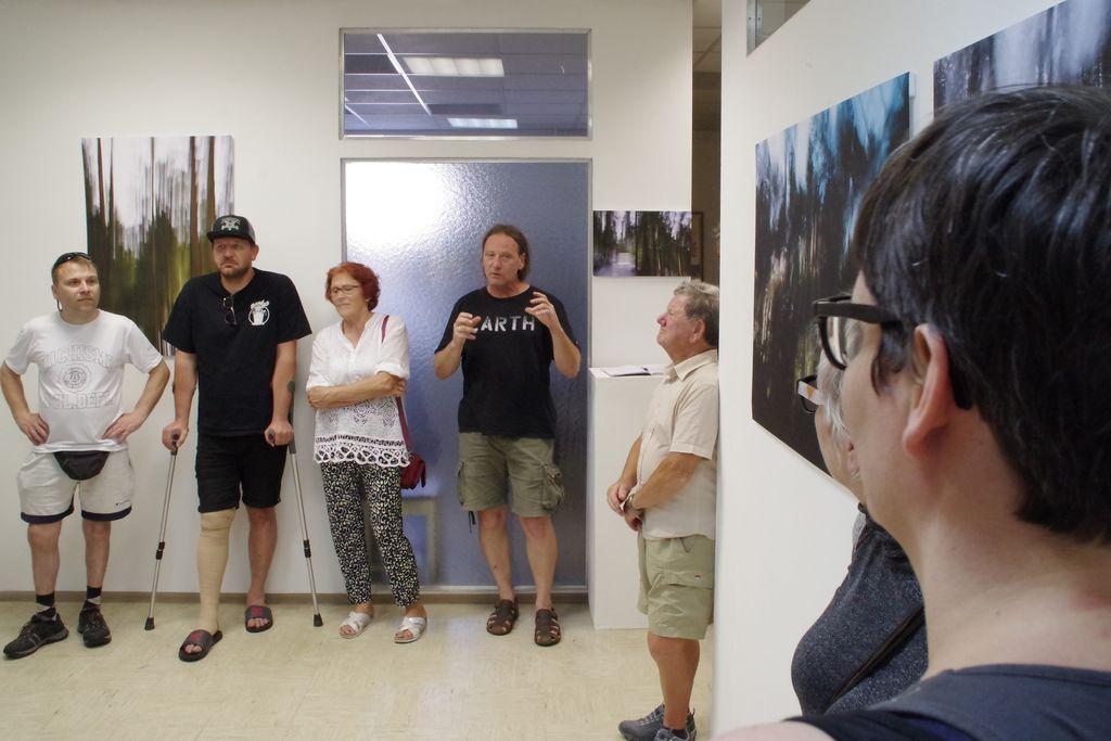 Primož Juvan ob otvoritvi razstave