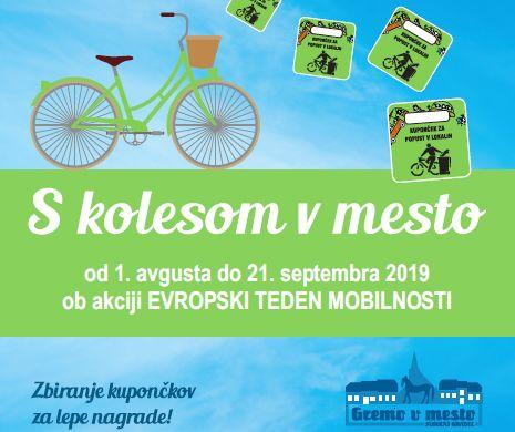 S kolesom v mesto - spodbujanje trajnostne mobilnosti in oživljanje aktivnosti v mestnem jedru