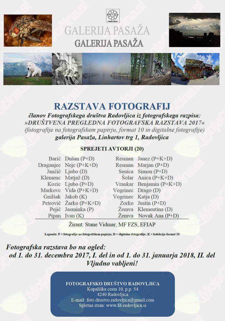 Društvena pregledna fotografske razstava 2017/2
