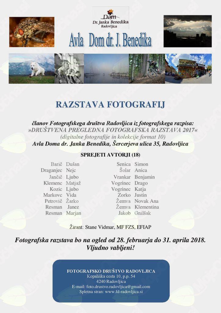 Društvena pregledna fotografske razstava 2017