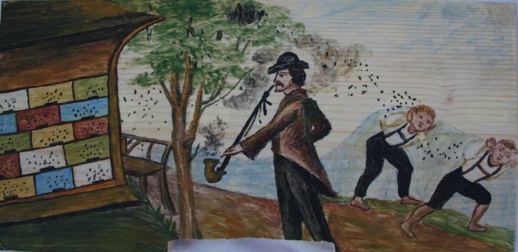 Goldbrunnhof; SATJE - shramba spomina in Poslikane panjske končnice
