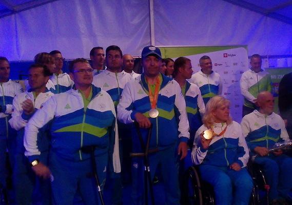 Na sprejemu paraolimpijcev