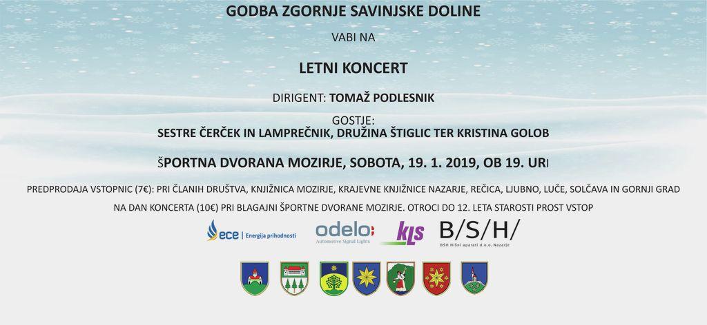 Koncert Godbe Zgornje savinjske doline