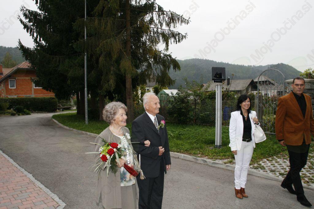 Zlata poroka Jelice in Jožeta Zupan iz Krašnje