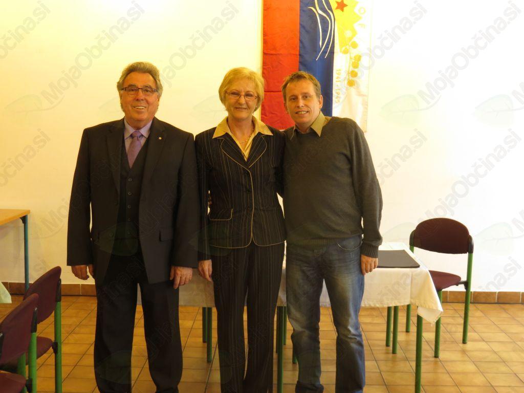 Jože Vrabič, Stanka Tamše in Matej Blažun