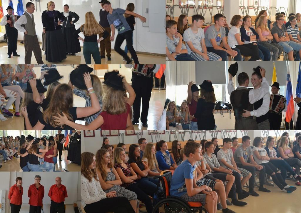 Folklorna skupina Jurij Vodovnik zaplesala na konjiški gimnaziji