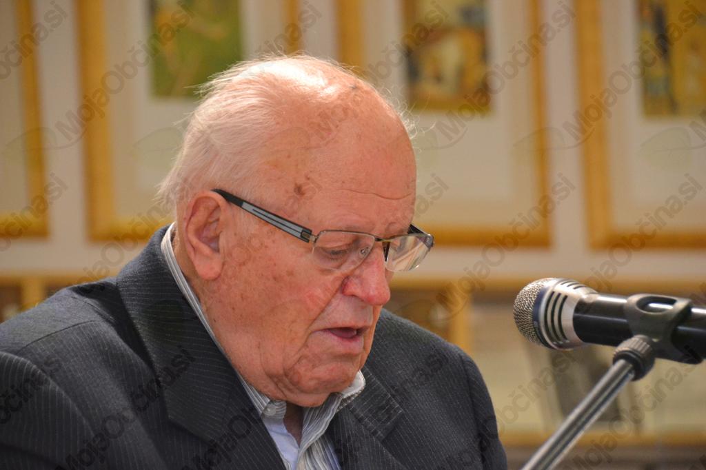 Prvi častni občan Jože Frelih je predstavil zgodovino Šentruperta kot občine.