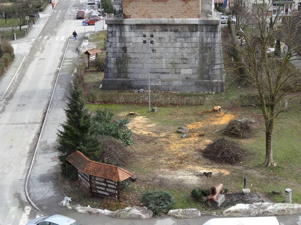 Pogled na park, februar 2014