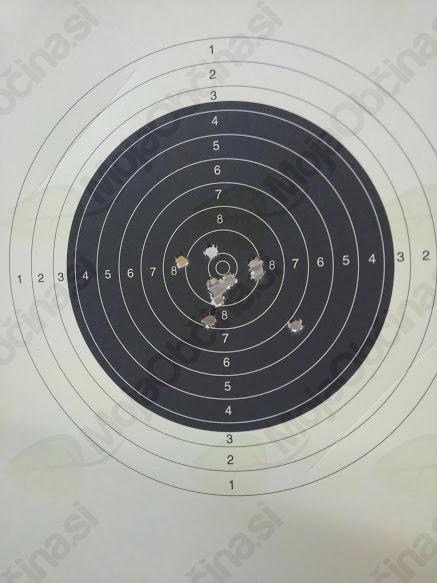 Moja najboljša tarča v streljanju z malokalibrsko puško