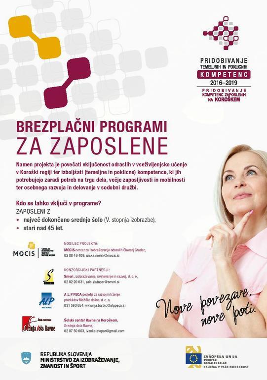Povabilo k vpisu v BREZPLAČNE izobraževalne programe za ZAPOSLENE