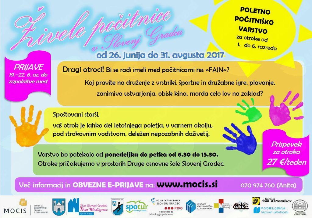 Živele počitnice v Slovenj Gradcu 2017