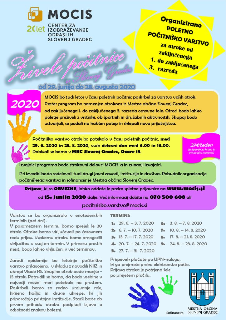 Počitniško varstvo otrok v Slovenj Gradcu