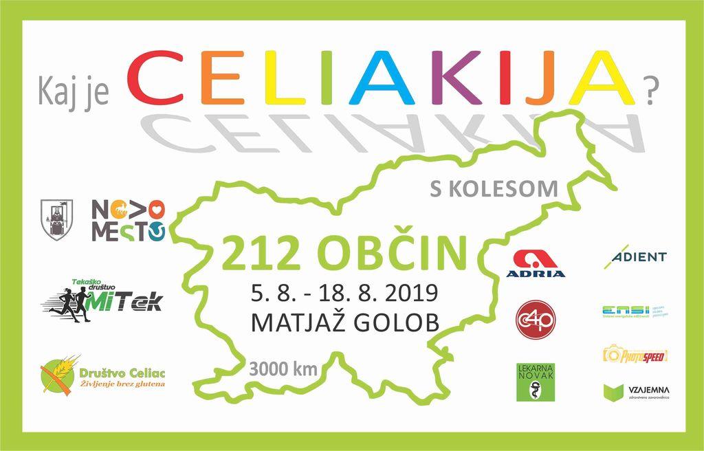 """Matjaž Golob v sklopu projekta """"Kolesarimo za celiakijo"""" v 14 dneh prekolesaril Slovenijo"""