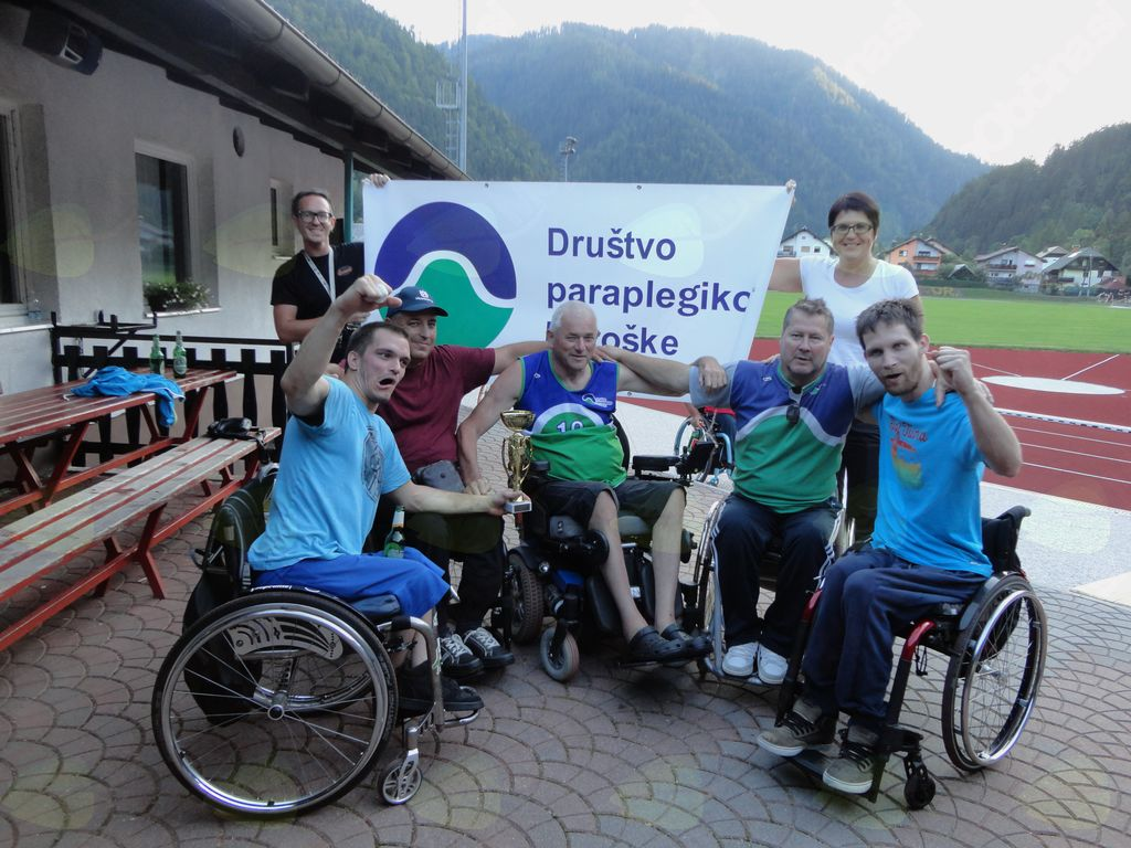 Ekipa Društva paraplegikov Koroške