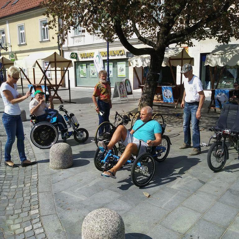 preiskušanje ležečega kolesa