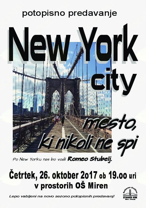 potopisno predavanje NEW YORK CITY