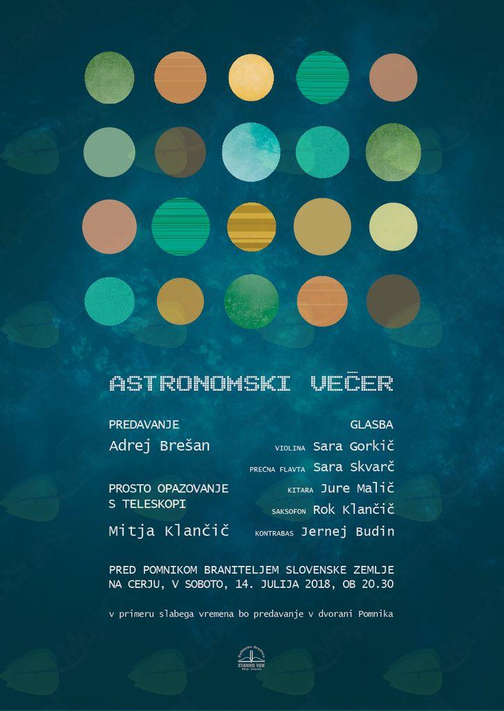 Astronomski večer ob glasbi