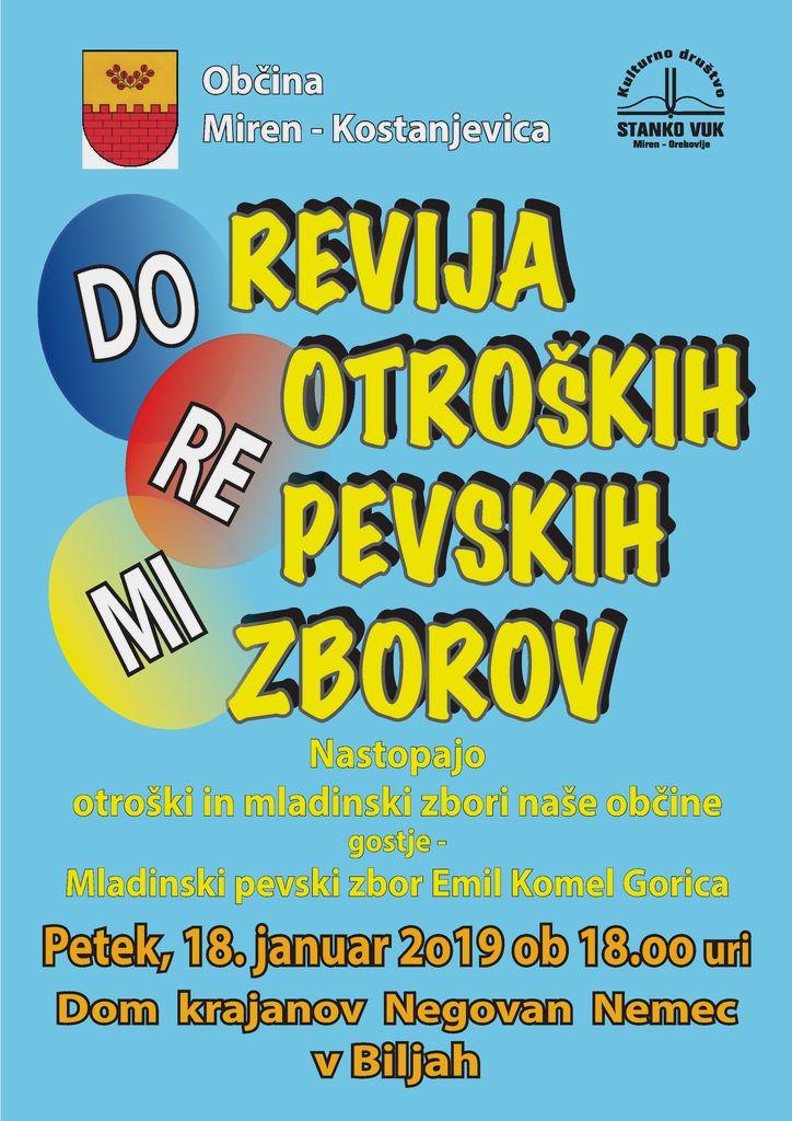 DO-RE-MI revija otroških in mladinskih pevskih zborov