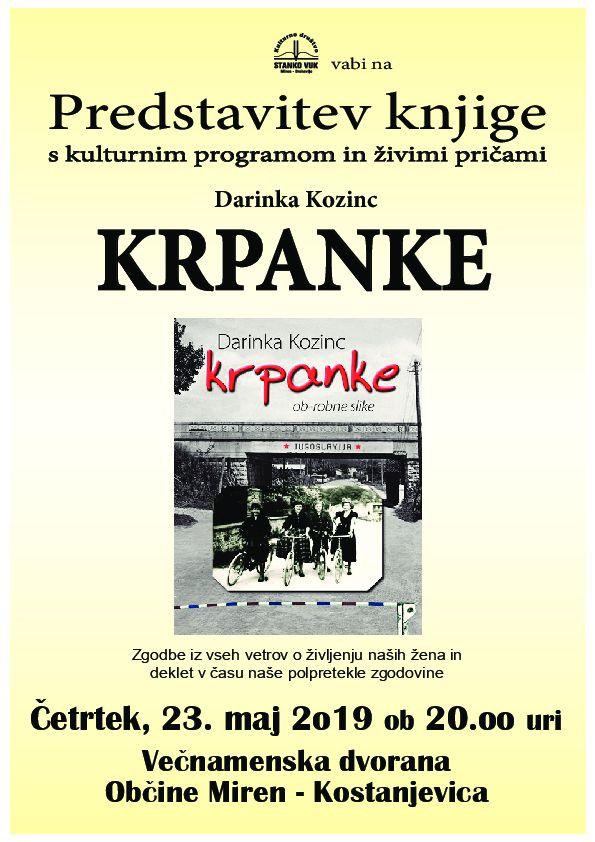 predstavitev knjige Darinke Kozinc: KRPANKE