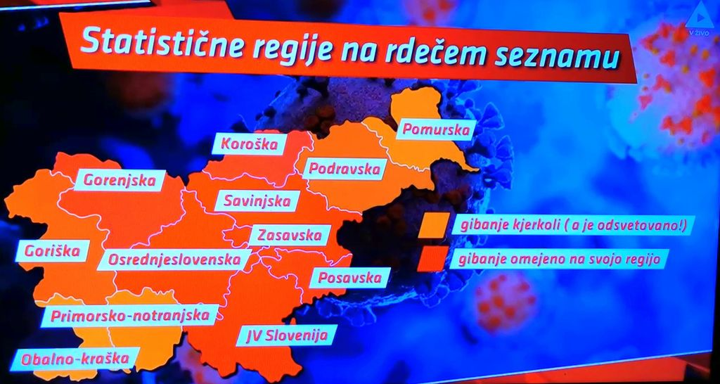 Dramatična situacija, 14.oktobra še brez Podravja v rdeči coni, dva dni kasneje tudi to..