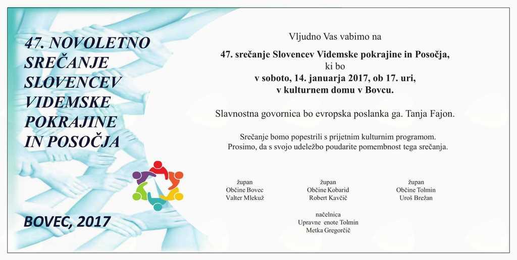 47. Novoletno srečanje Slovencev Videmske pokrajine in Posočja