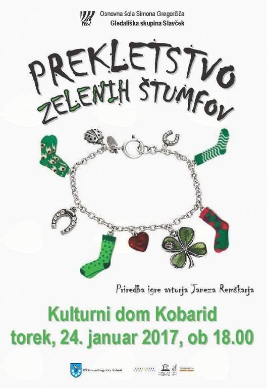 Gledališka predstava Prekletstvo zelenih štumfov v izvedbi Gledališke skupine Slavček