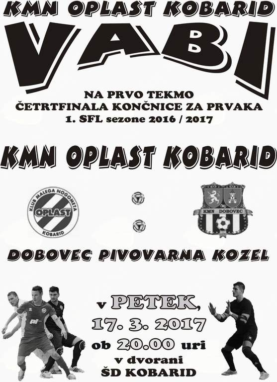 Prva tekma četrtfinala končnice za prvaka 1.SFL sezone 2016/17