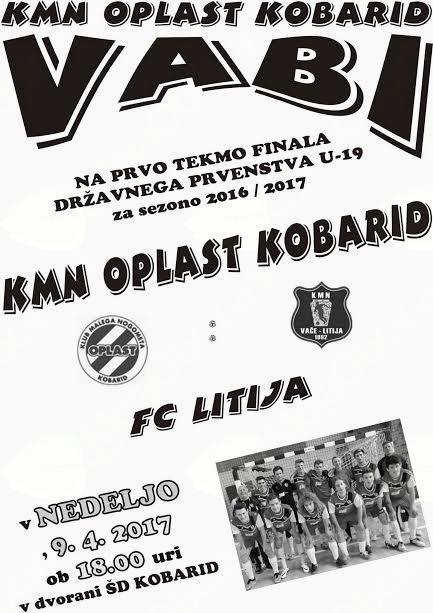 Prva tekma finala državnega prvenstva U-19: KMN Oplast Kobarid : FC Litija