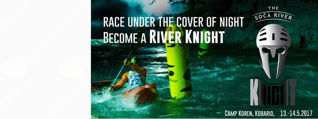 Nočna kajakaška tekma Soča River Knight