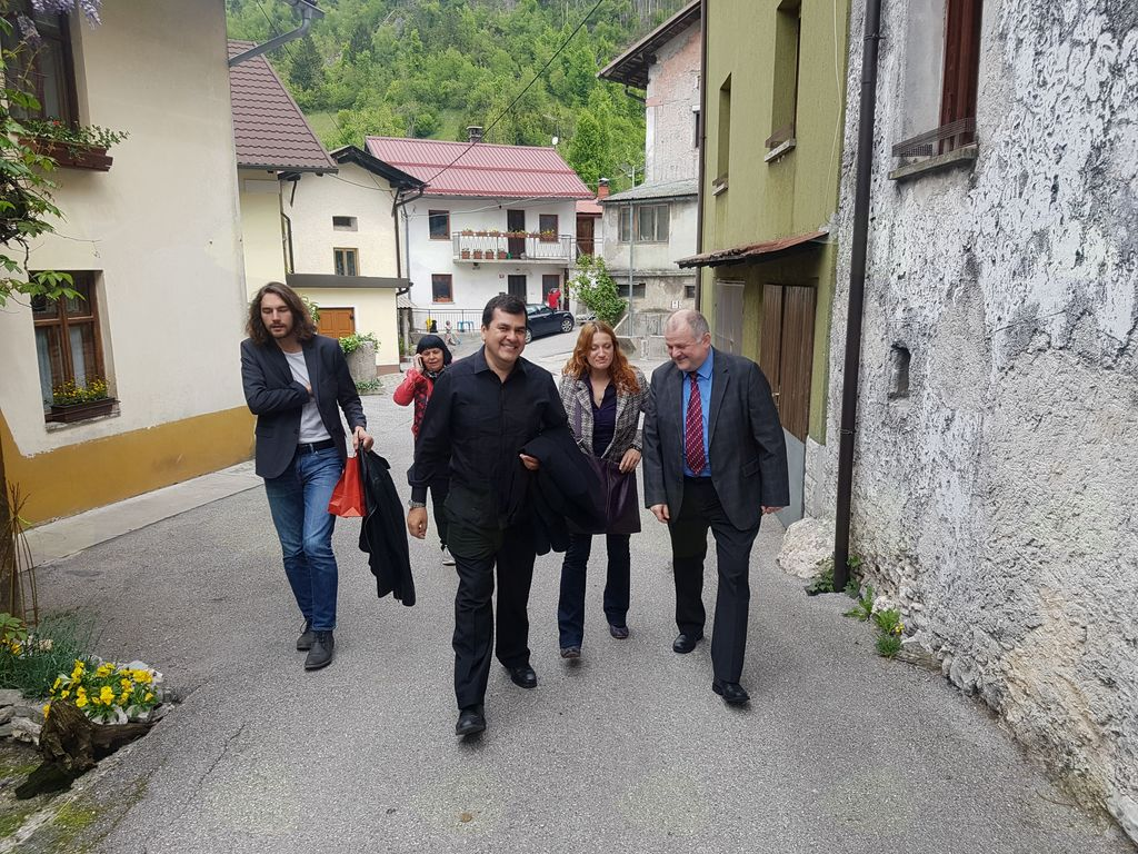 Kobarid je obiskal stalni odpravnik poslov na veleposlaništvu Bolivarske republike Venezuele