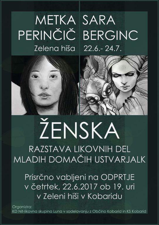 Odprtje razstave likovnih del mladih domačih ustvarjalk: ŽENSKA