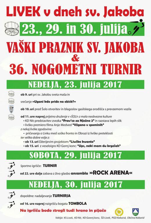 36. nogometni turnir Livek 2017