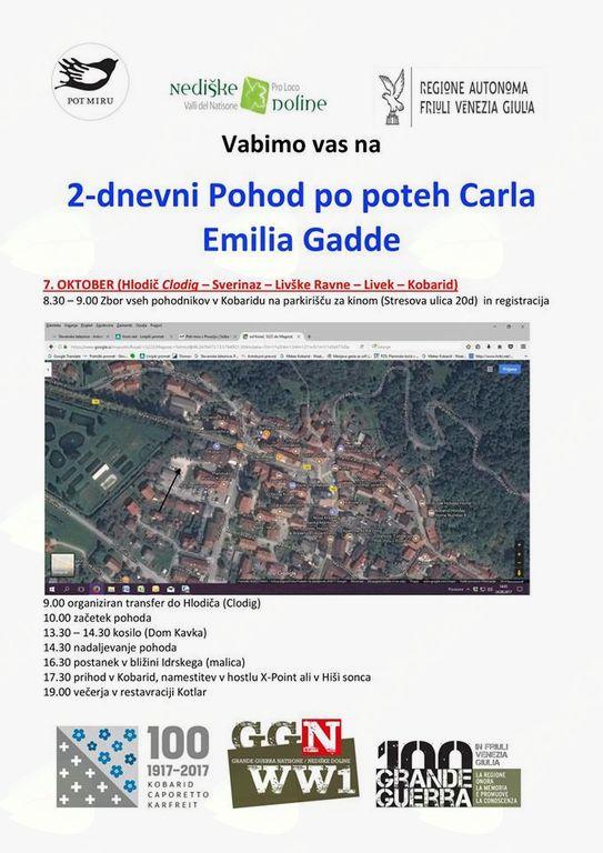 Dvodnevni vodeni pohod po poteh Carla Emilia Gadde