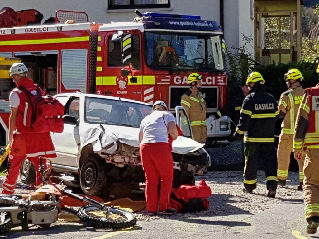 Kobarid je gostil državno preverjanje ekip prve pomoči Civilne zaščite in Rdečega križa