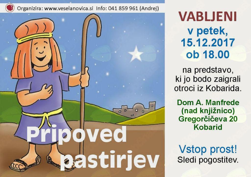 Predstava v izvedbi otrok iz Kobarida: Pripoved pastirjev
