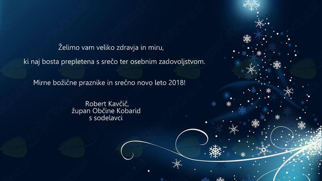 Mirne božične praznike in srečno novo leto 2018