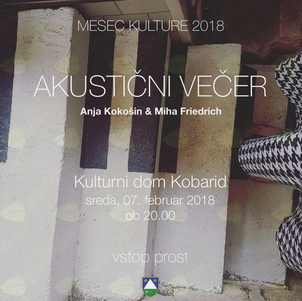 Akustični večer: Anja Kokošin in Miha Friedrich