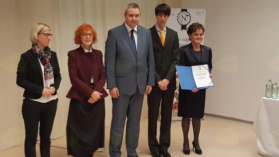 Mlekarna Planika Kobarid je prejemnica posebne nagrade za inovativnost 2018